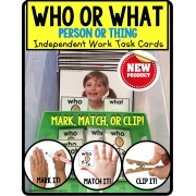 WHO or WHAT Categories TASK CARDS for Independent Work TASK BOX FILLER